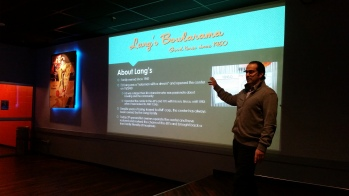 16 ft Projection Screen, The Nelson Event Center Cranston RI